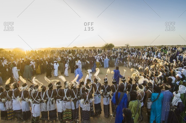 Africa - September 25, 2007: Wedding ceremony of the Bororo, Niger