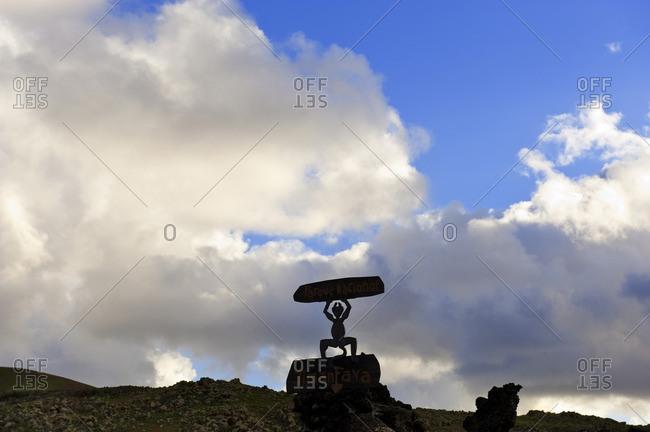 Sign at Timanfaya National Park, Canary Islands