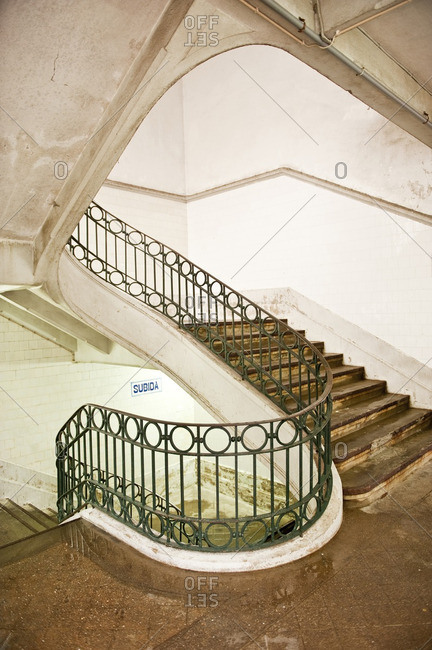 A staircase in Portuguese building
