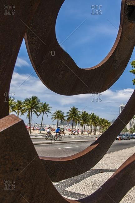 Brazil, Rio de Janeiro - December 1, 2012: Boulevard along beach, Rio de Janeiro
