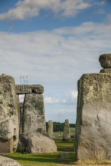 England, Stonehenge - July 10, 2013: Ruins of Stonehenge in England