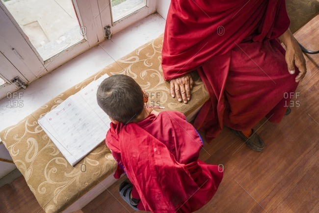 Young student in Buddhist monastery