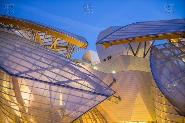 France, Paris - November 10, 2014: Louis Vuitton Foundation, Paris