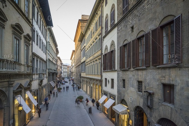 Italy, Toscana - March 19, 2015: A street in Florence, Italy