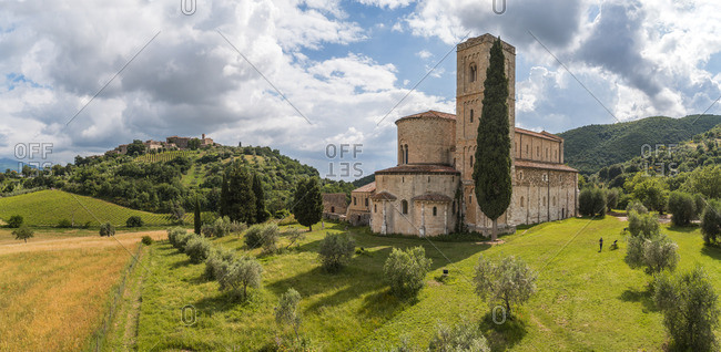 Church in rural Tuscany, Italy