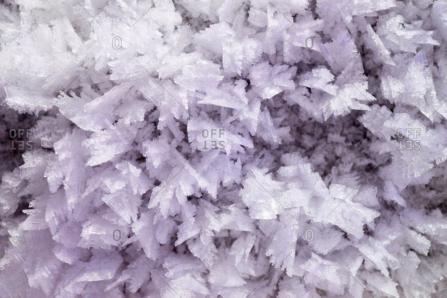 Ice crystals in Kungur ice cave