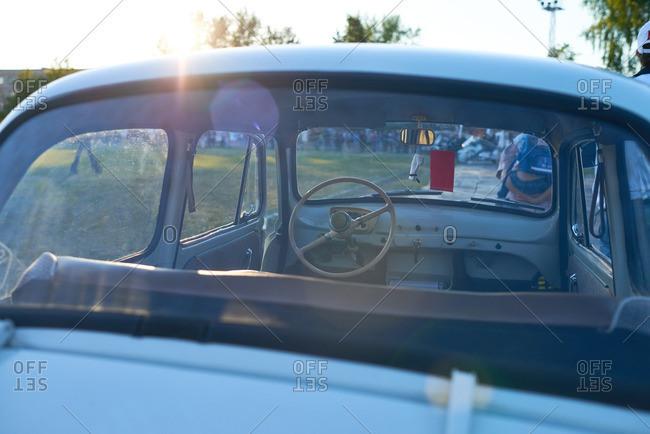 Kungur, Perm Krai, Russia - June 25, 2016: Interior of an empty car