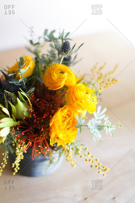 Flowers arranged in a vase