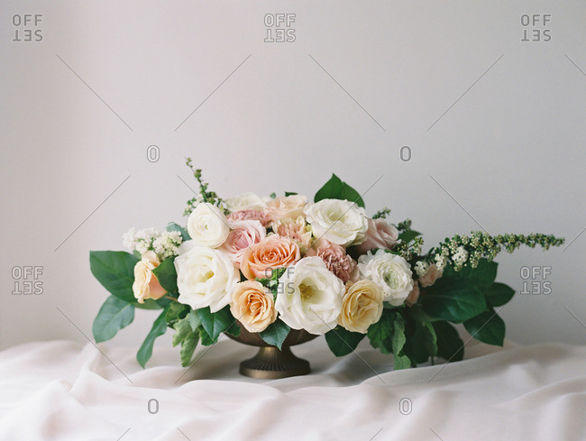 Bouquet of flowers on a table
