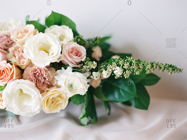 Close-up of a bouquet of flowers on a table
