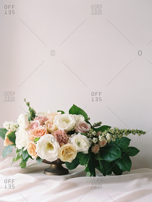 Colorful bouquet of flowers on a table