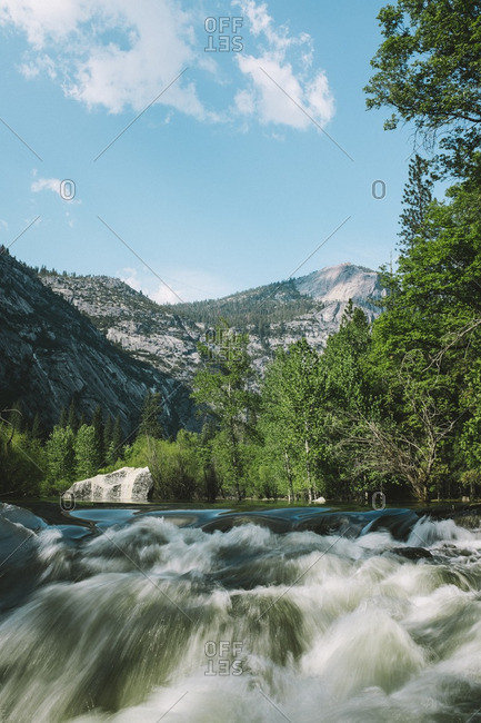 White water rapids in Yosemite National Park