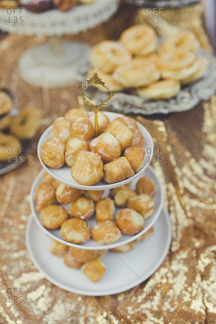 Donut holes served at a wedding reception
