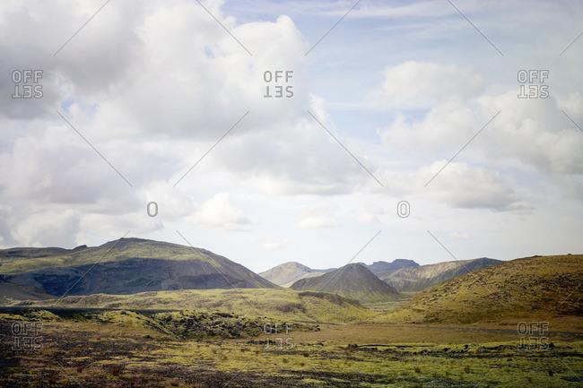Hilly Icelandic landscape