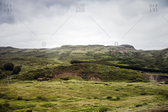 Green rolling hills in Iceland