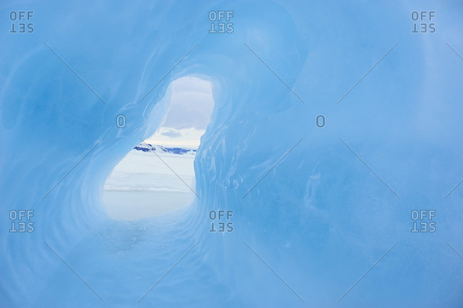 Ice Cave, Snow Hill Island, Antarctic Peninsula, Antarctica