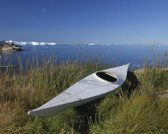 Traditional Sea Kayak, Ilulissat, Qaasuitsup, Disko Bay, Greenland