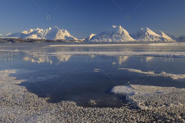 Winter Scene, Lyngen Alps, Breivikeidet, Troms, Norway