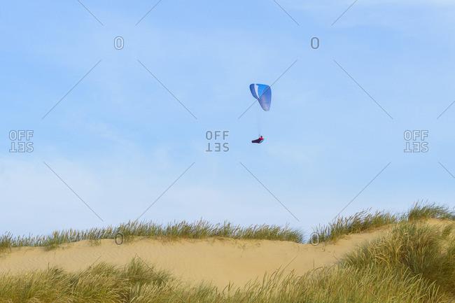 Sand Dune with Paraglider, Rubjerg Knude, Lokken, North Jutland, Denmark