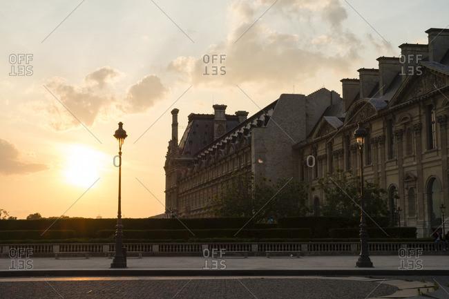 Louvre Architecture at Sunset, Paris, France