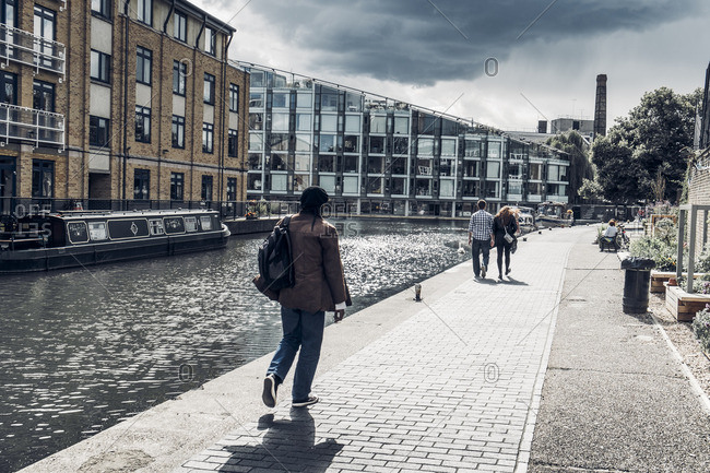 London, England - August 19, 2014: Regent's Canal in London, England, United Kingdom
