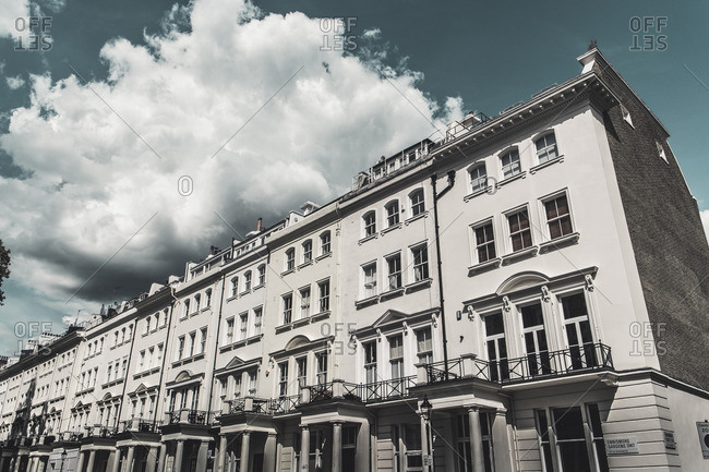 London, England - August 4, 2014: Detail of buildings in Notting Hill district of London, England, United Kingdom