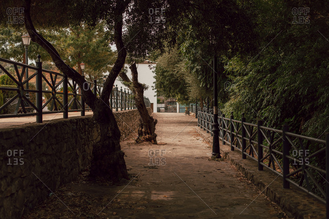 A quiet path in Spanish town