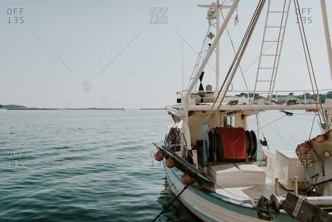 Ship sailing off the coast of Dalmatia