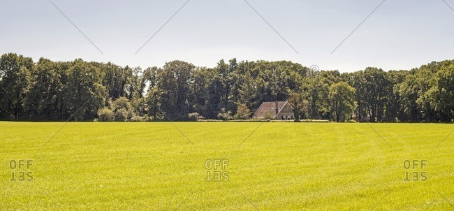 Dutch rural landscape with farm in the Netherlands