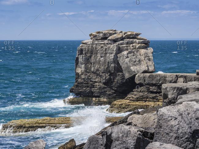 Pulpit Rock Coastal Feature at Portland Bill, Isle of Portland, Jurassic Coast, UNESCO World Heritage Site, Dorset, England, United Kingdom, Europe