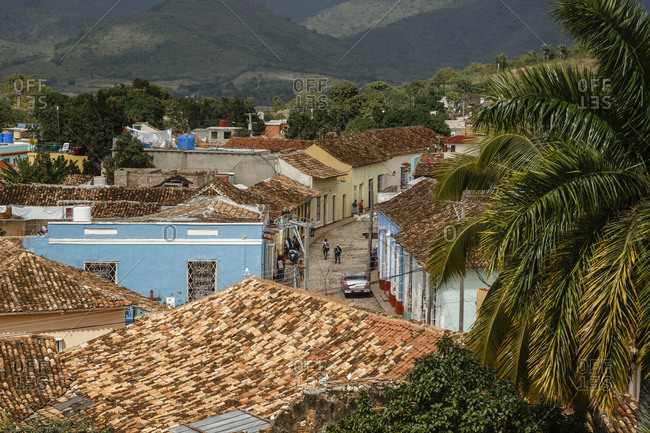 Elevated view over the colonial city of Trinidad, UNESCO World Heritage Site, Sancti Spiritus Province, Cuba, West Indies, Caribbean, Central America
