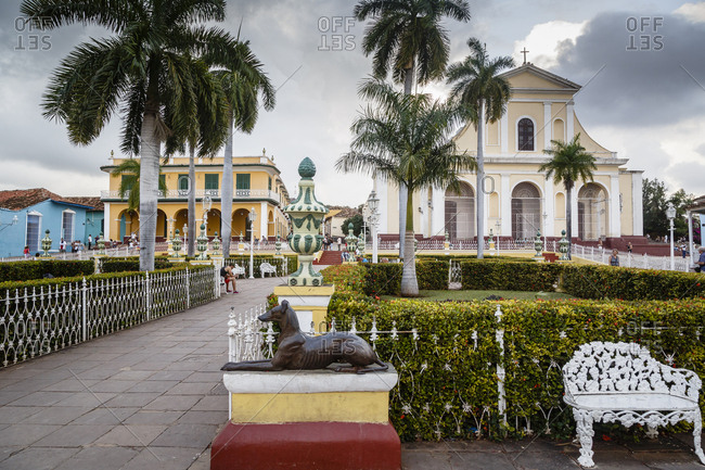 January 29, 2016: Plaza Mayor, Trinidad, UNESCO World Heritage Site, Sancti Spiritus Province, Cuba, West Indies, Caribbean, Central America