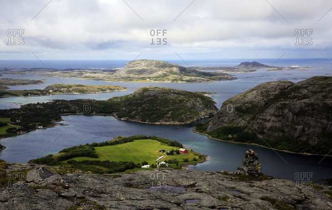 View across the islands of Flatanger, Nord-Trondelag, Norway, Scandinavia, Europe
