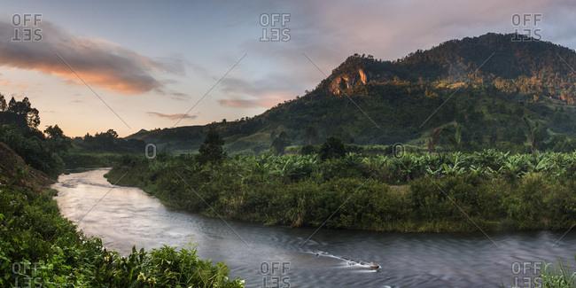 Namorona River at sunrise, Ranomafana National Park, Madagascar Central Highlands, Madagascar, Africa