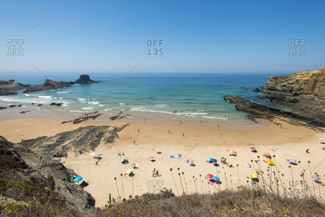 Beach at Zambujeira do Mar, Portugal, Europe