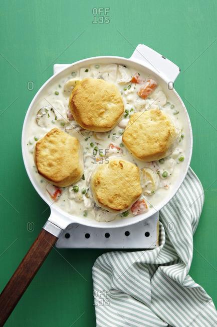 Biscuits in chicken gravy