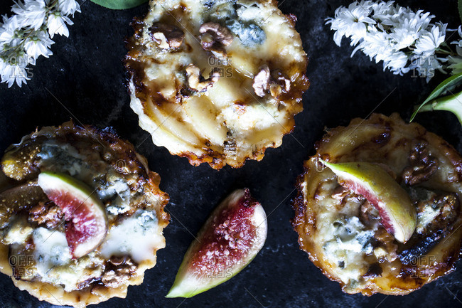 Fruit and cheese pies
