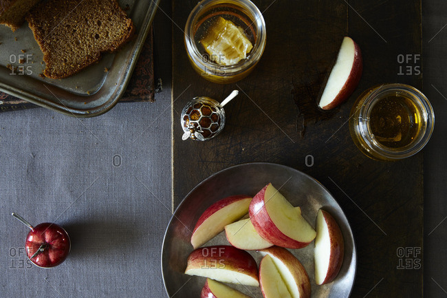 Apples And Honey With Bread