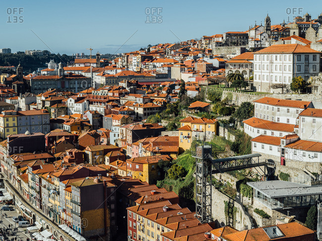 Hillside homes and buildings in Porto, Portugal
