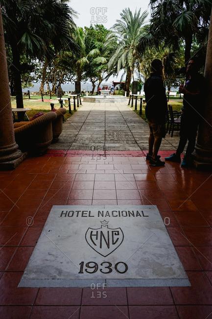 Havana, Cuba - March 7, 2016: Hotel Nacional de Cuba entryway