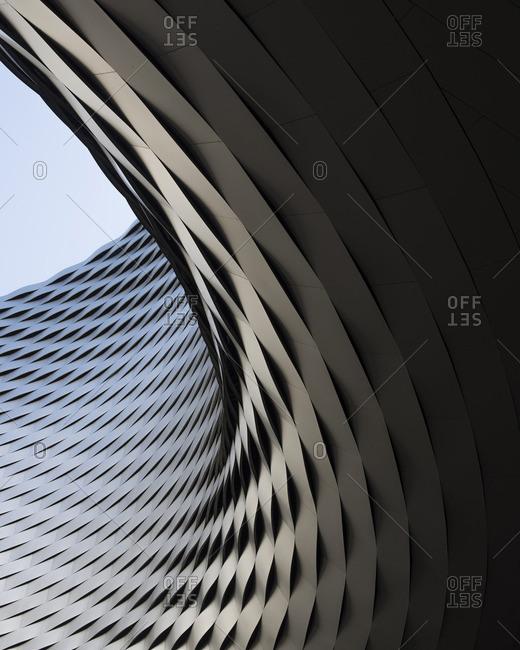 Curving facade of building