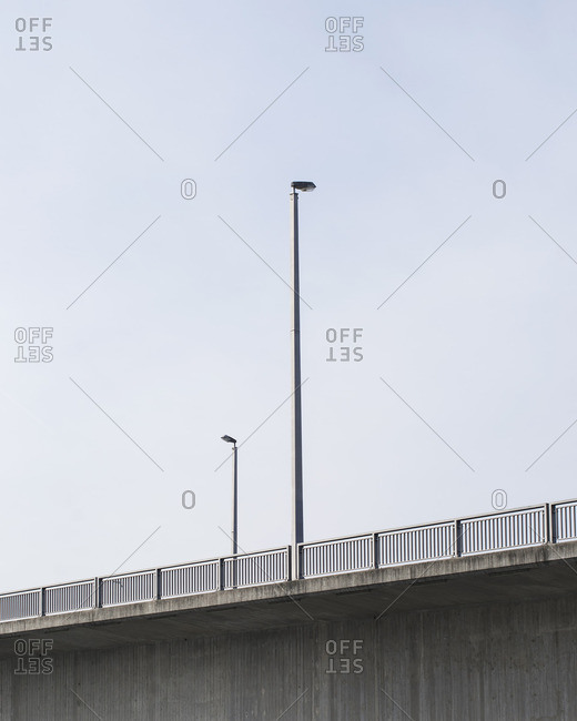 Lampposts on an elevated roadway