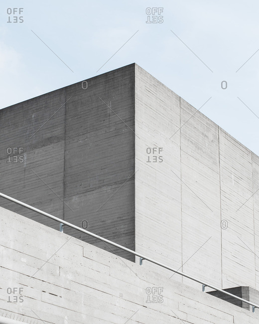 Blocky modern minimalist architecture