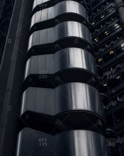 Exterior detail of Lloyd's Building, City of London