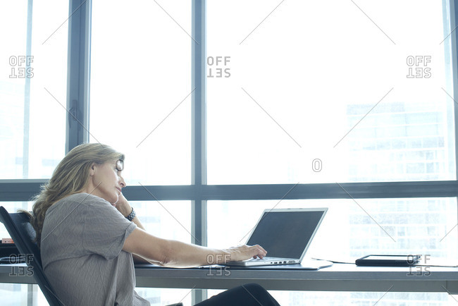 Woman using laptop - Offset Collection