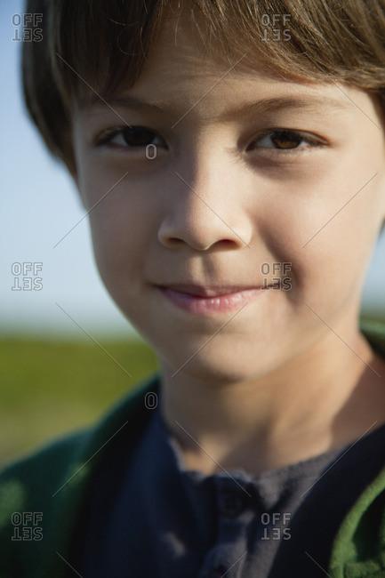 Boy smiling, portrait - Offset Collection