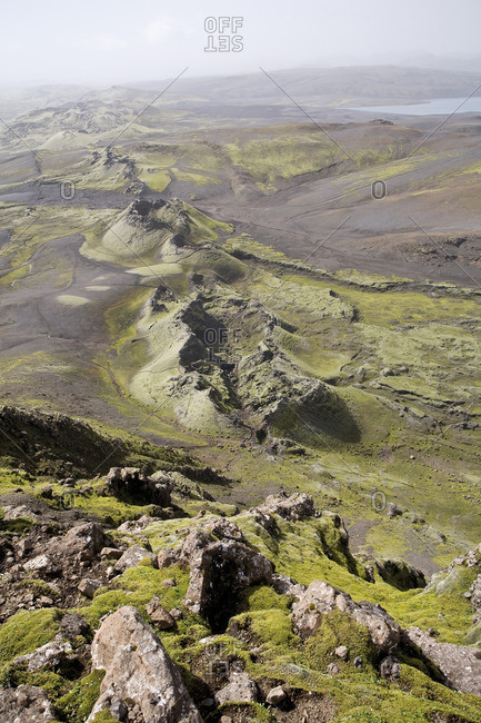 Lakagigar volcanic fissure (also known as Craters of Laki or The Laki), Iceland