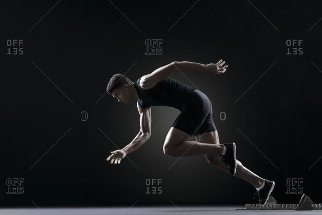 Runner leaving starting block - Offset