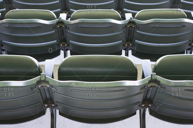 Empty stadium seating, cropped - Offset
