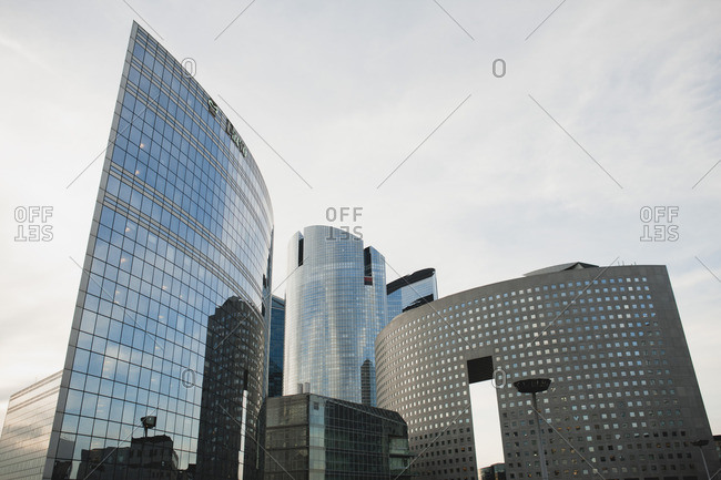 Modern skyscrapers, low angle view